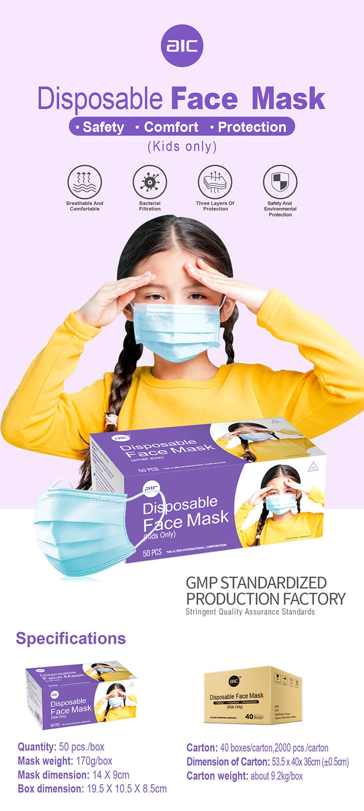 Disposable Face Mask(Kids Only)