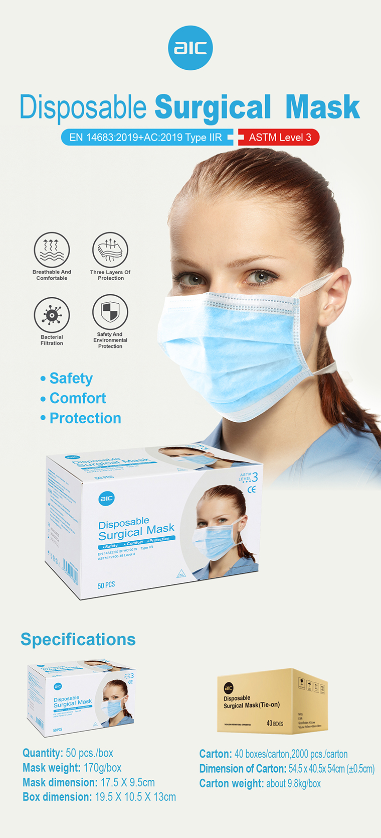 Disposable Surgical Mask ( Tie-on )