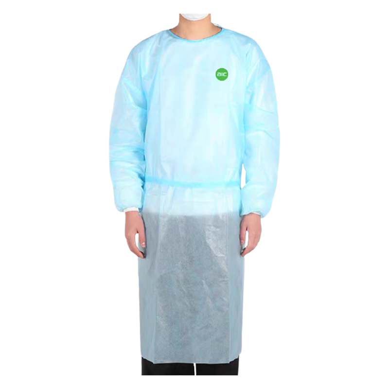 Hanging isolation gown